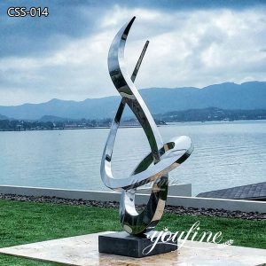Large Mirror Polished Abstract Outdoor Modern Metal Sculpture for Sale CSS-14