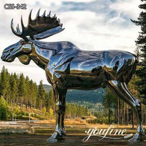 Big Mirror Metal Moose Sculpture Outdoor Garden Decor for Sale CSS-342