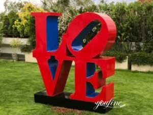 Modern Metal LOVE Sculpture, Feedback from Many Customers
