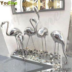 Metal Crane Statue Modern High Polished Art Decor Manufacturer CSS-158