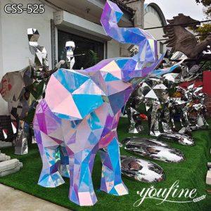 Metal Elephant Statue Modern Outdoor Decor Factory Supply CSS-525