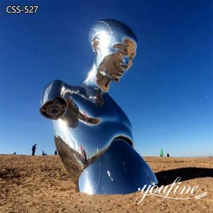 Metal Figure Sculpture Mirror Polished Abstract Design for Sale CSS-527