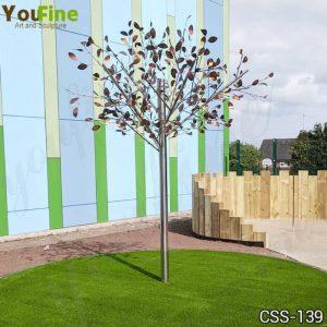 Stainless Steel Tree Sculpture Outdoor Art Decor Factory Supply CSS-139